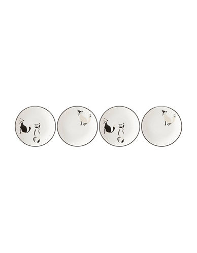 Kate Spade New York Forest Drive Fox Accent 4pc Tidbit Place-WHITE-One Size