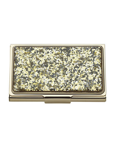 Kate Spade New York Simply Sparkling Card Holder-GOLD-One Size