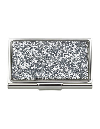 Kate Spade New York Simply Sparkling Card Holder-SILVER-One Size