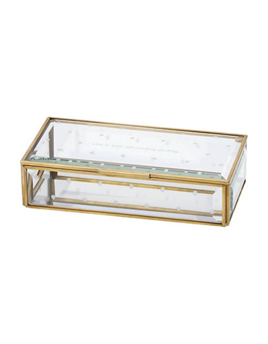 Kate Spade New York Out Of The Box Jewelry Box-CLEAR-One Size
