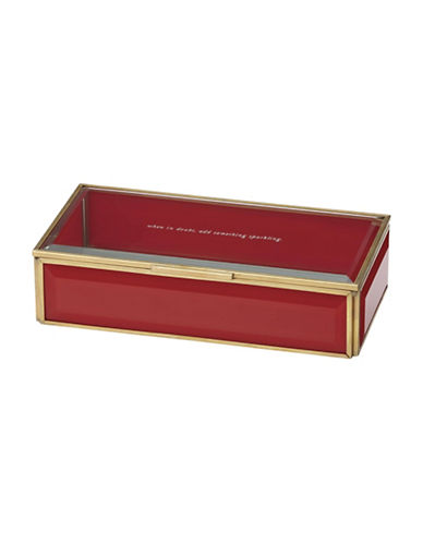 Kate Spade New York Out Of The Box Jewelry Box-RED-One Size