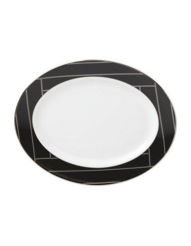 Brian Gluckstein By Lenox Winston Geometric Oval Platter-WHITE-13