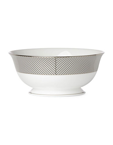 Brian Gluckstein By Lenox Winston Geometric Serving Bowl-WHITE-One Size