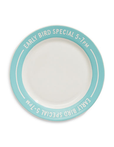 Kate Spade New York Orders Up Accent Plate-BLUE-One Size