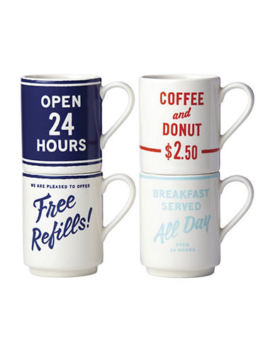 Kate Spade New York Orders Up Set of Four Mugs-ASSORTED-One Size