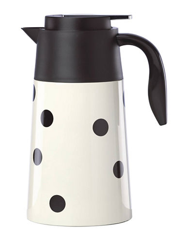 Kate Spade New York Deco Dot Hot Beverage Carafe-WHITE-One Size