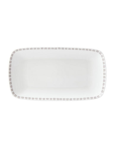 Kate Spade New York Casual Dinnerware Hors D Oeuvre Tray-WHITE/GREY-One Size