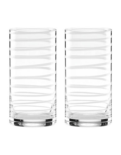 Kate Spade New York Charotte High Ball Glasses-WHITE-One Size