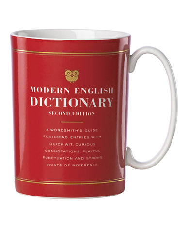 Kate Spade New York Dictionary Mug-RED-One Size