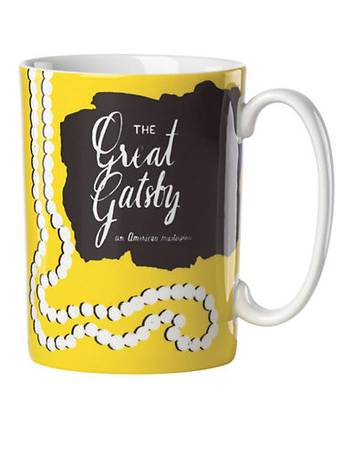 Kate Spade New York The Great Gatsby Mug-YELLOW-One Size