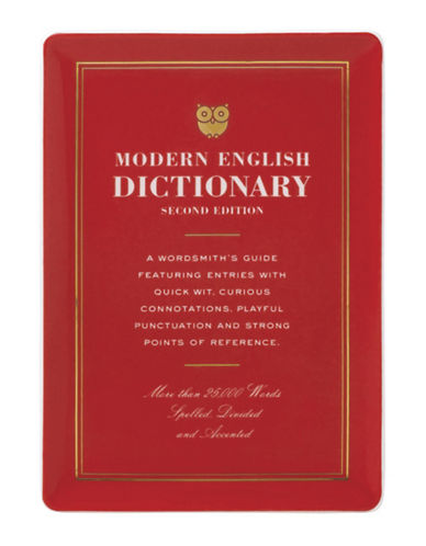 Kate Spade New York Dictionary Tray-RED-One Size