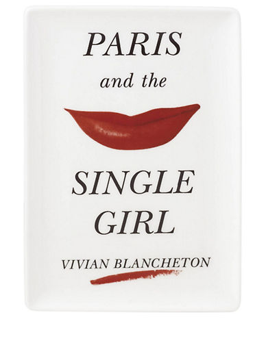 Kate Spade New York Paris Tray-WHITE-One Size