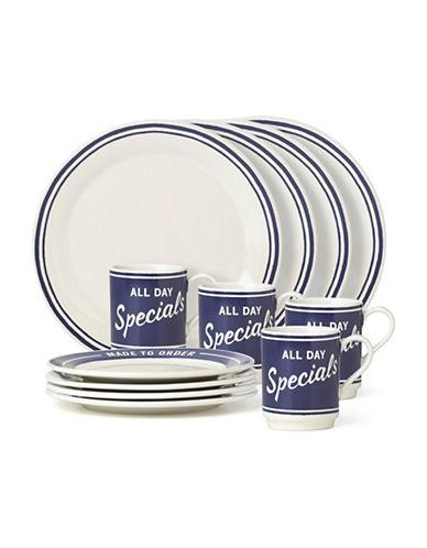 Kate Spade New York Orders Up 12-Piece Dinnerware Set-BLUE-12 Piece Set