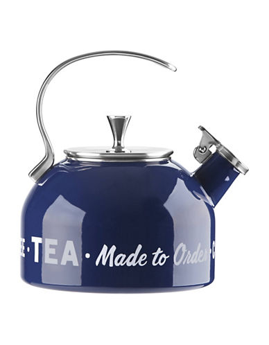 Kate Spade New York Orders Up Enamel and Steel Kettle-BLUE-One Size