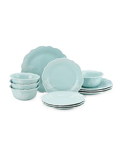 Lenox 12-Piece Butterfly Meadow Dinnerware Set-BLUE-One Size