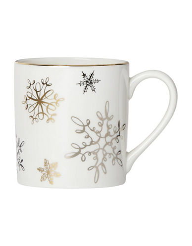 Kate Spade New York Jingle All The Way Accent Mug-WHITE/GOLD-One Size 89242876_WHITE/GOLD_One Size
