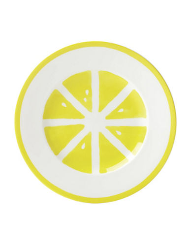 Kate Spade New York Twist Accent Plate-YELLOW-One Size