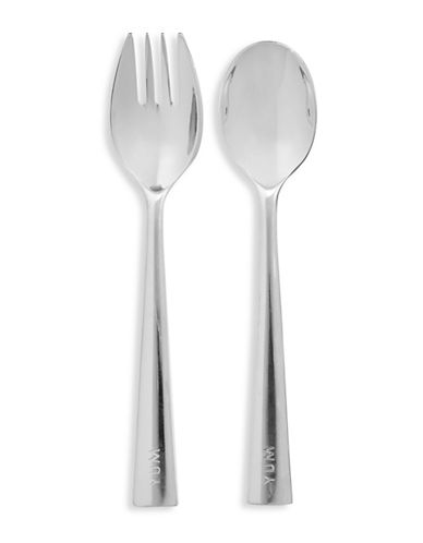 Kate Spade New York Two-Piece Spoon and Fork Set-SILVER-One Size