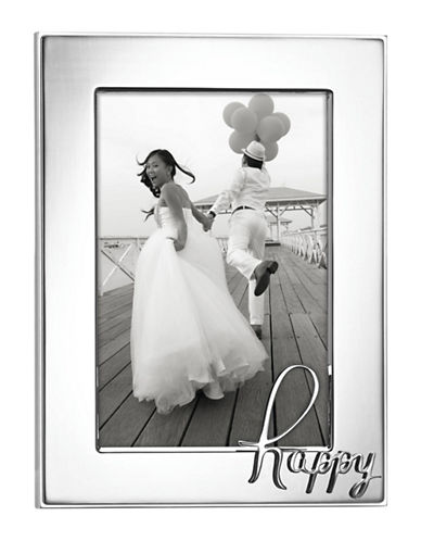 Kate Spade New York In A Word Happy Frame-SILVER-4 x 6
