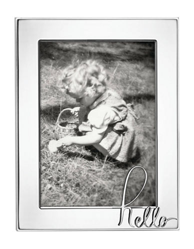 Kate Spade New York In A Word Hello Frame-SILVER-5 x 7