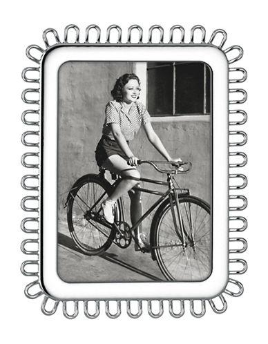 Kate Spade New York Keaton Rectangular Frame-SILVER-5 x 7