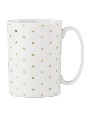 Kate Spade New York Everdon Lane Golden Spots Mug-WHITE/GOLD-One Size