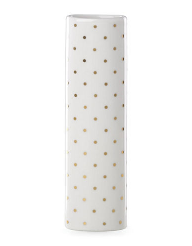 Kate Spade New York Everdon Lane Vase-WHITE/GOLD-One Size