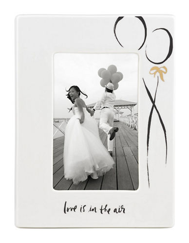 Kate Spade New York Bridal Party Love is in the Air Photo Frame-WHITE-4 x 6