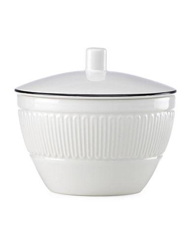 Kate Spade New York York Avenue Porcelain Sugar Bowl-WHITE-One Size