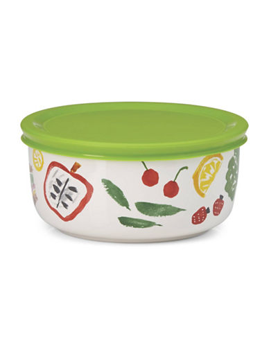 Kate Spade New York All in Good Taste Pretty Pantry 16 oz. Lidded Bowl-WHITE/GREEN-One Size