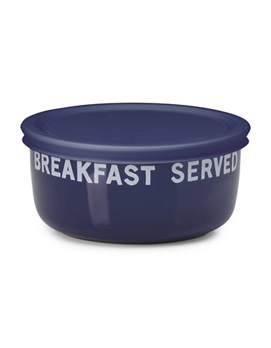 Kate Spade New York All in Good Taste Orders Up 16 oz. Lidded Bowl-NAVY-One Size