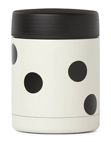 Kate Spade New York All in Good Taste On The go 10 oz. Insulated Food Container-WHITE/BLACK-One Size