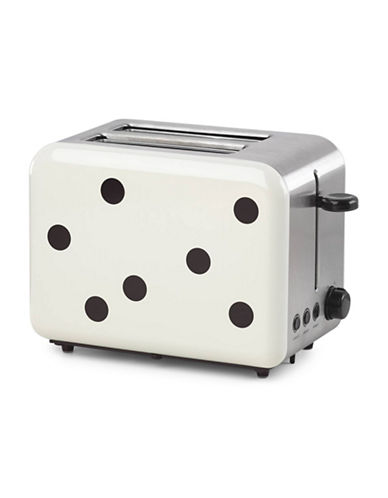 Kate Spade New York All in Good Taste Deco Dot Toaster 10.5L-WHITE/BLACK-7.5