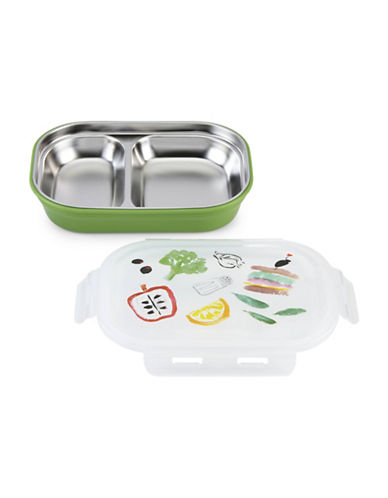 Kate Spade New York All in Good Taste On The Go Printed Pantry Lunch Box-GREEN/WHITE-One Size