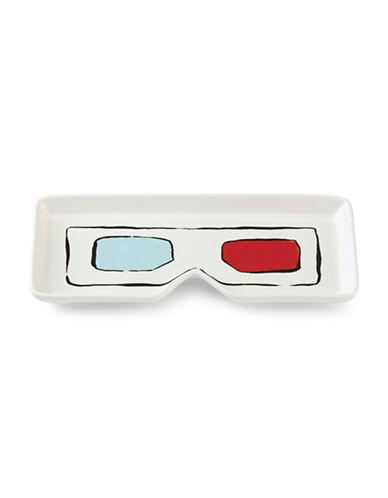 Kate Spade New York All in Good Taste 3D Glasses Tray-WHITE/BLUE/RED-One Size
