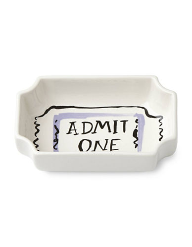 Kate Spade New York All in Good Taste One-Ticket Bowl-WHITE-One Size