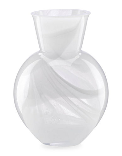 Kate Spade New York Prospect Place Glass Bud Vase-CLEAR GLASS/WHITE-6