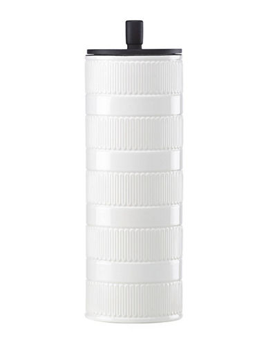 Kate Spade New York York Avenue Porcelain Tall Canister-WHITE-One Size