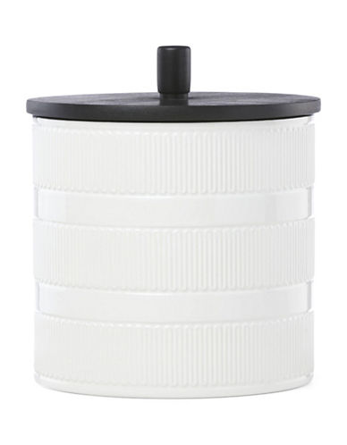 Kate Spade New York York Avenue Porcelain Large Canister-WHITE-One Size