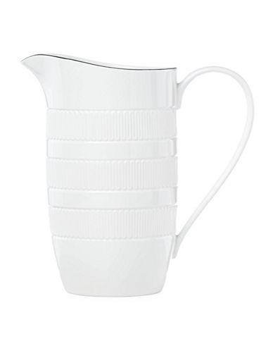 Kate Spade New York York Avenue Porcelain Pitcher-WHITE-One Size