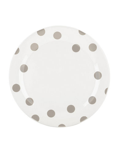 Kate Spade New York Four-Piece Deco Dot Dinner Plate Set-BEIGE-10.5in
