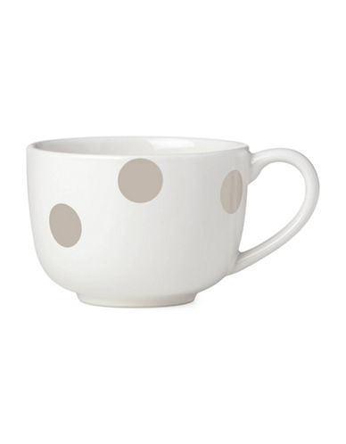 Kate Spade New York Deco Dot Latte Mug-BEIGE-One Size