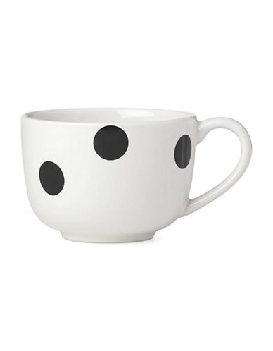 Kate Spade New York Deco Dot Latte Mug-BLACK-One Size