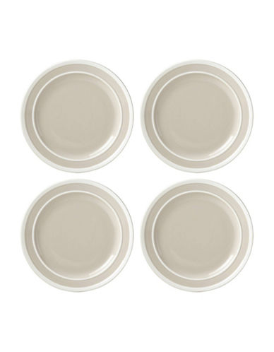 Kate Spade New York Four-Piece Sculpted Stripe Dinner Plate Set-GREY-One Size