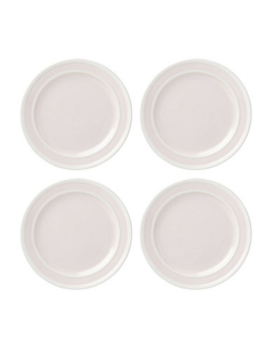 Kate Spade New York Four-Piece Sculpted Stripe Dinner Plate Set-PINK-One Size