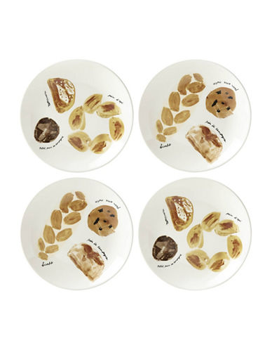Kate Spade New York Four-Piece Freshly Baked Accent Plate Set-BEIGE-One Size