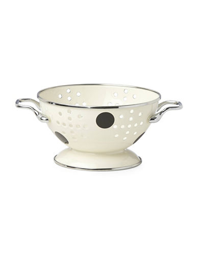 Kate Spade New York Deco Dot Stainless Steel Mini Colander-BLACK-One Size
