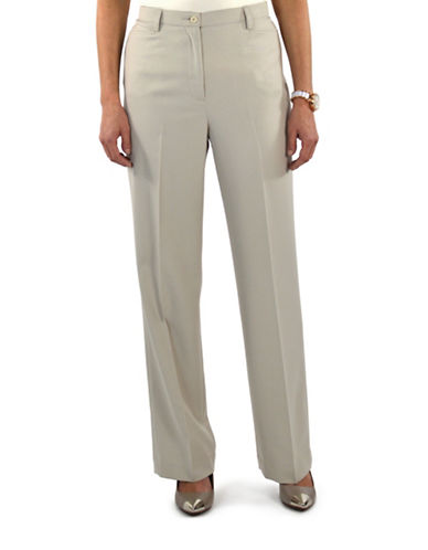 Haggar Classic Essential Scoop Pocket Dress Pant-PEARL-18