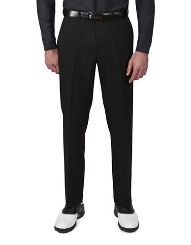 Haggar Cool 18 Straight-Fit Pants-BLACK-38X32