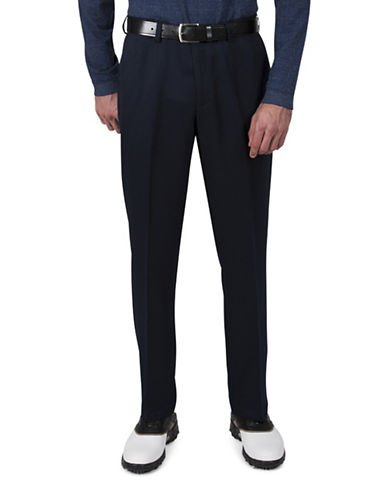 Haggar Cool 18 Straight-Fit Pants-NAVY-38X32
